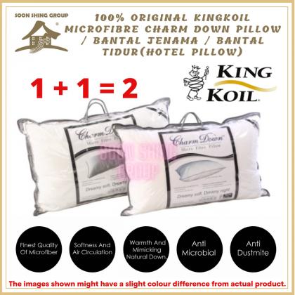 100% original KingKoil Microfibre Charm Down Pillow / Bantal Jenama / Bantal tidur (Hotel Pillow)