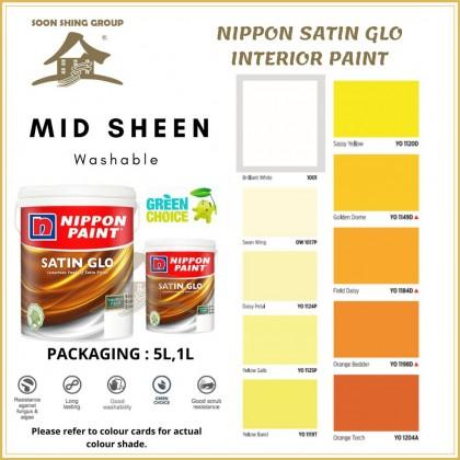 SS493 NIPPON PAINT SATIN GLO INTERIOR PAINT 1L / 5L