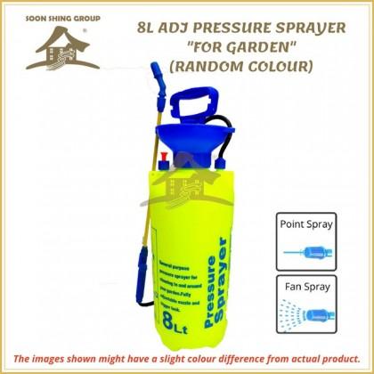 8L PRESSURE SPRAYER ADJUSTABLE AGRICULTURE FOR GARDEN (RANDOM COLOUR)